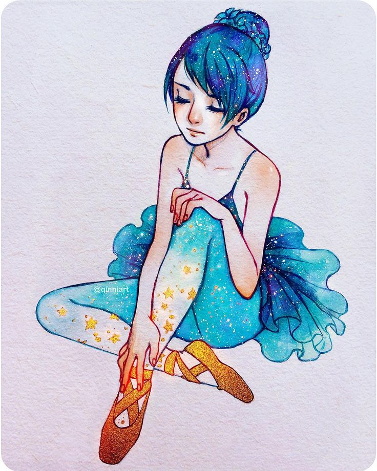 """""The magical ballet shoes ⭐️"" - Finally done! Haha dunno why this took me so…"