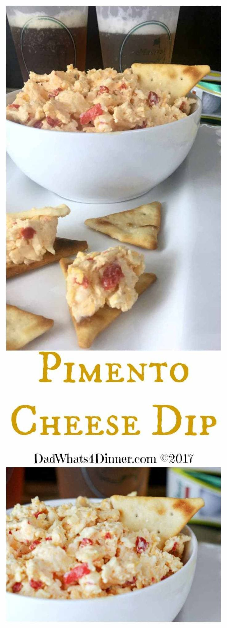 Pimento Cheese Dip is a great combination of the simple pimento cheese sandwich in dip form. A southern twist on the Jarlsberg Dip from Kroger's. #recipe #appetizer