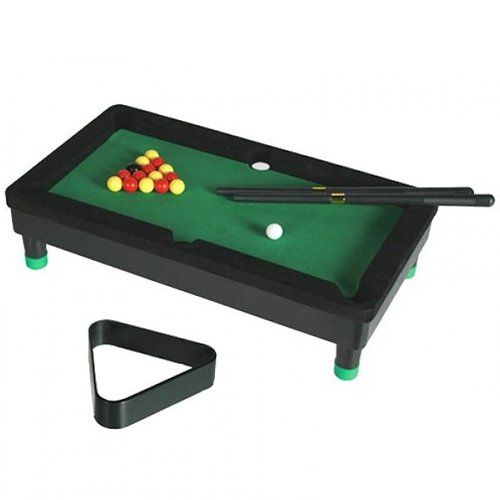 BARGAINS-GALORE MINI TABLETOP POOL TABLE FUN KIDS OFFICE GIFT BILLIARDS CUE SNOOKER SET GAME NEW you can play to have fun anywhere as they dont take up much space. You can always take them with you on any trip. Your friends will be very happy to play pool with you. (Barcode EAN = 5038673915913) http://www.comparestoreprices.co.uk/december-2016-6/bargains-galore-mini-tabletop-pool-table-fun-kids-office-gift-billiards-cue-snooker-set-game-new.asp