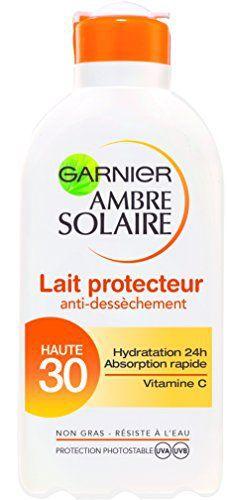 Garnier Ambre Solaire Lait Protecteur Hydratation 24h FPS 30 200 ml: Protection et hydratation Enrichi en Vitamine C* antioxydante, le Lait…