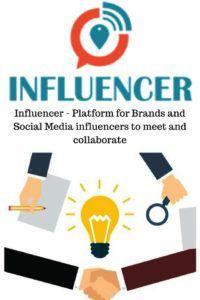 Influencer - Platform for Brands and Social Media influencers