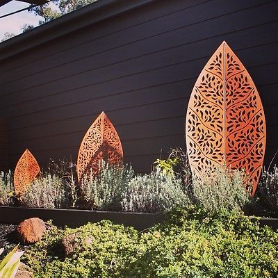 Metal Garden Screen Steel Rust Panel Wall Art Partition Decorative Laser Cut