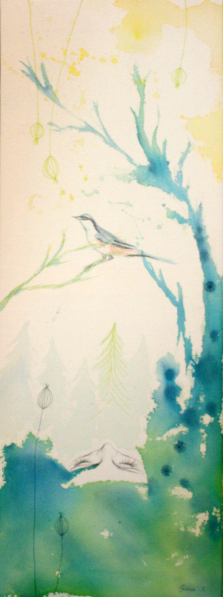 Kevät 2012 (Spring) Acrylic, pencil, marker on cotton duck