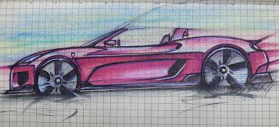 Always Creative: Ferrari Spyder Sketch New Ferrari Spyder Sketch Always Creative #alwayscreative87 #art #automotive #beltonaru #car #darko #design #ferrari #industrialdesign #Red #sketch #spyder #style #szekelydaniel #transportationdesign #tryingtosurvive #vehicle #watercolor