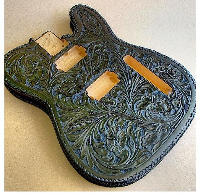 James hetfield new custom leather guitar not finished