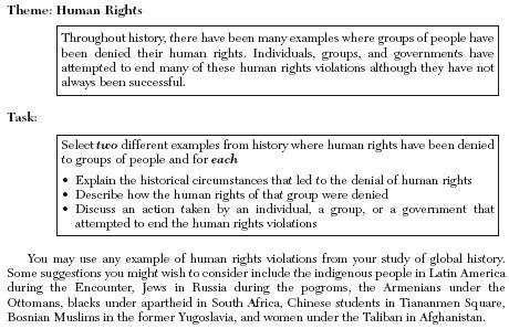 Global history regents thematic essay human rights violations
