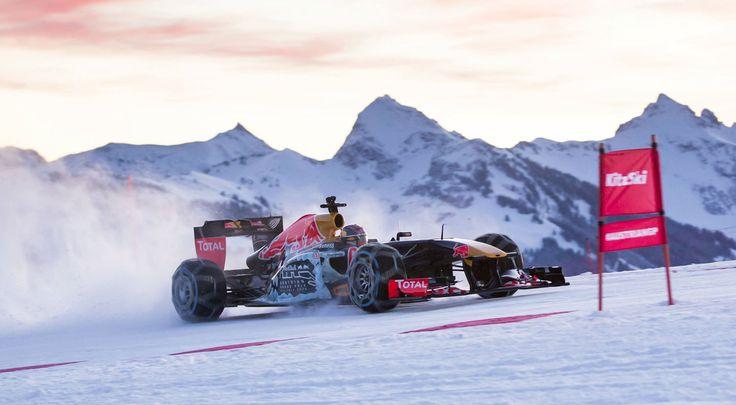 GALERIE: Tomu neuvěříte: Formule 1 se nebojí sněhu, řádí na sjezdovce v Alpách (videa) | FOTO 15 | auto.cz