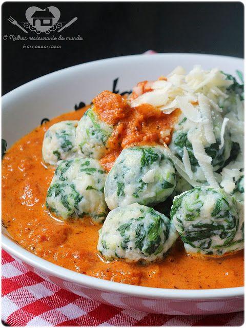 Nhoque de ricota com espinafre - O melhor restaurante do mundo é a nossa Casa