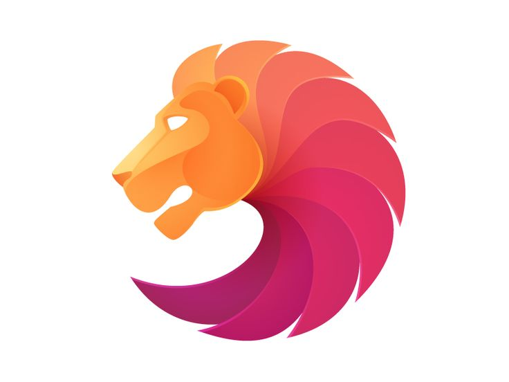 Dribbble - Lion head by Roma Korolev (Kaer)