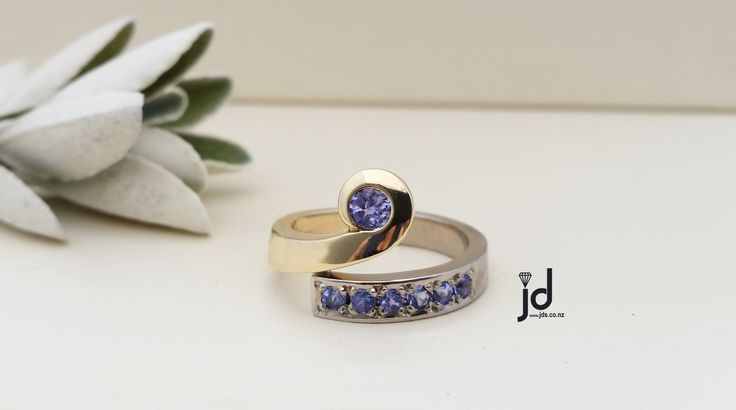 Tanzanite Ring | Violet | Tanzania | White Gold | Yellow Gold | www.jds.nz