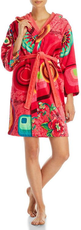 Desigual Lollipop Hooded French Terry Robe