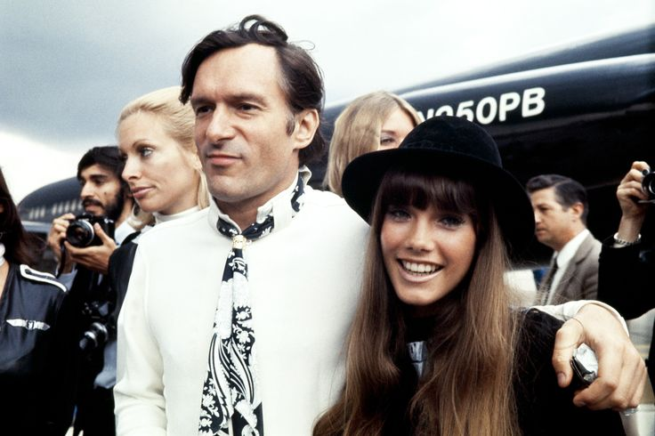 Portrait taken on August 21, 1970 at Le Bourget airport shows US Playboy Magazine publisher Hugh Hefner and his girlfriend actress Barbara Benton.   AFP PHOTO        (Photo credit should read STRINGER/AFP/Getty Images) via @AOL_Lifestyle Read more: https://www.aol.com/article/finance/2017/09/28/new-owner-of-the-playboy-mansion-plans-expansion/23226523/?a_dgi=aolshare_pinterest#fullscreen