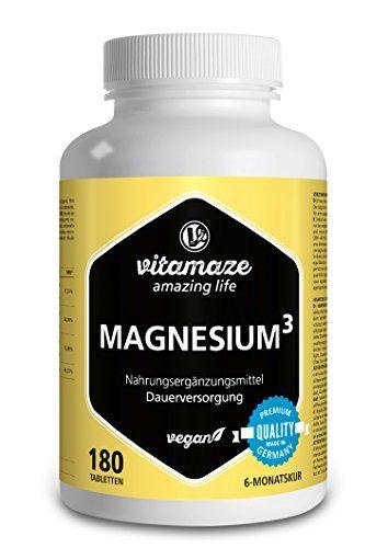 Complexe de Magnésium³ 350 mg de magnésium élémentaire 180 comprimés vegans – citrate de magnésium + carbonat de magnésium + oxyde de magnésium – excélente biodisponibilité sans stéarate de magnésium #Complexe #Magnésium³ #magnésium #élémentaire #comprimés #vegans #citrate #carbonat #oxyde #excélente #biodisponibilité #sans #stéarate