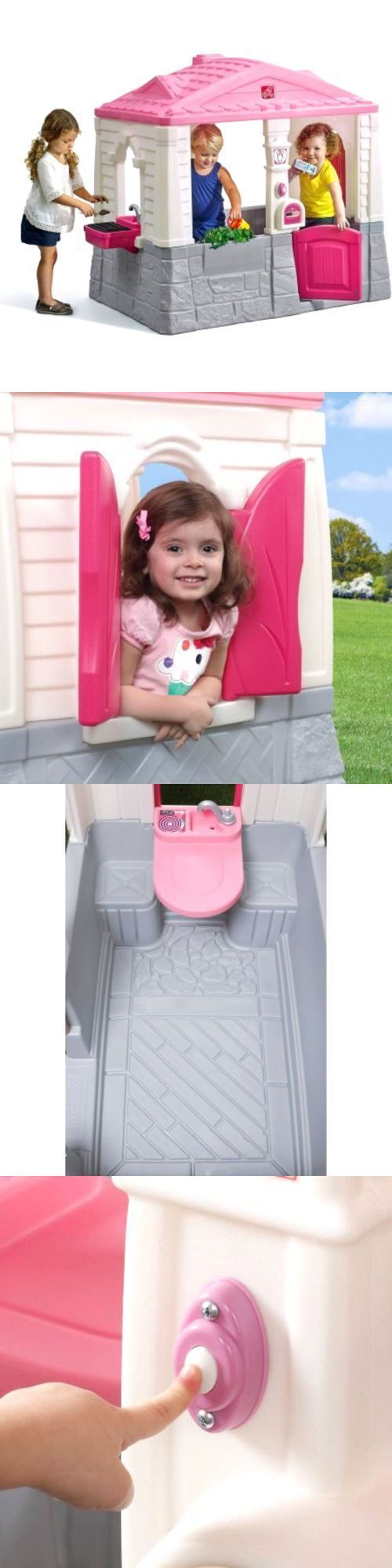 Permanent Playhouses 145995: Kids Plastic Playhouse Cottage Pink Children Indoor Outdoor Play House Girls Kit -> BUY IT NOW ONLY: $183.45 on eBay! #indoorplayhousekits
