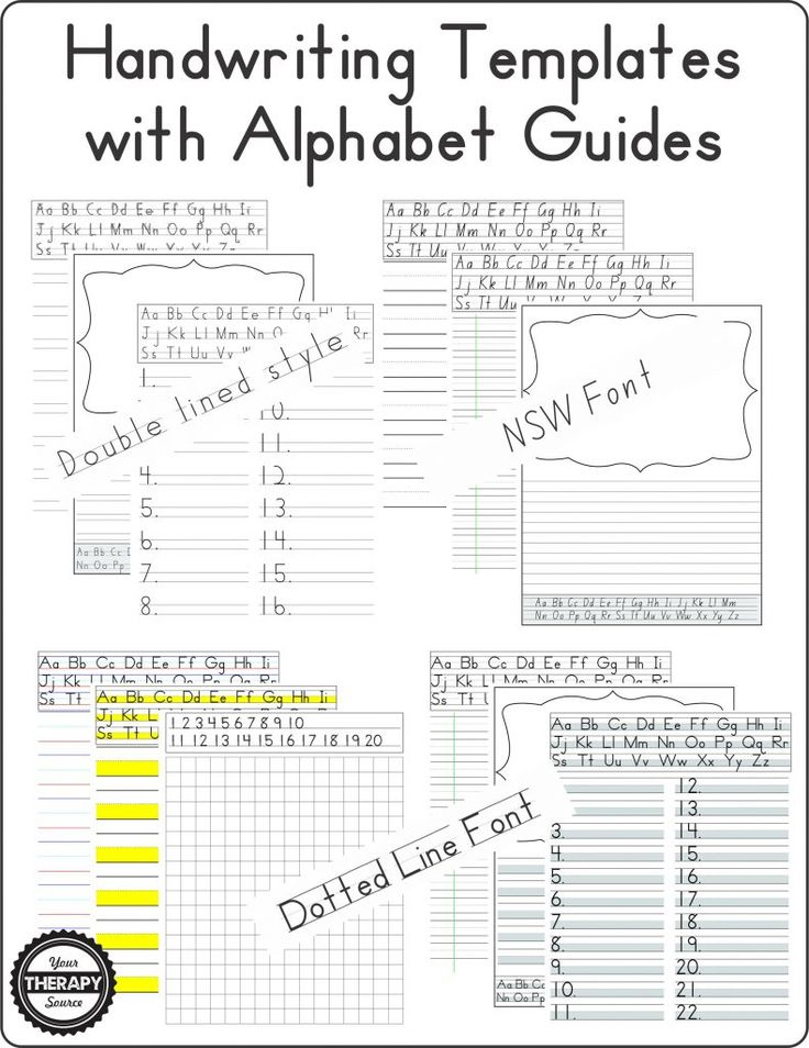Handwriting templates with alphabet guides learning for for Handwriting without tears letter templates