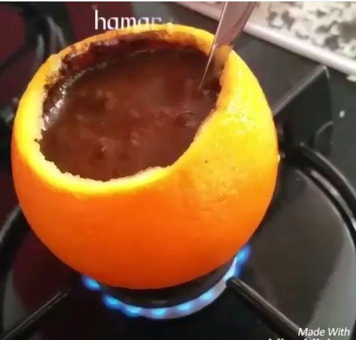 Portakal kabuğunda türk kahvesi