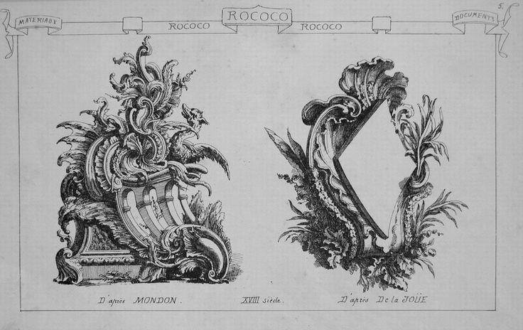 """Il termine """"Rococò"""" pare derivi da """"Rocaille"""" una tipologia di decorazione (originariamente destinata ad abbellire i giardini delle grandi regge francesi) che usa ( e forse talvolta abusa) linee voluttuose, elaborate,che si richiamano al profilo di una conchiglia."""