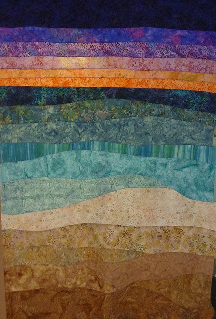 Beach Quilt with Sunset by lucysquilts, via Flickr