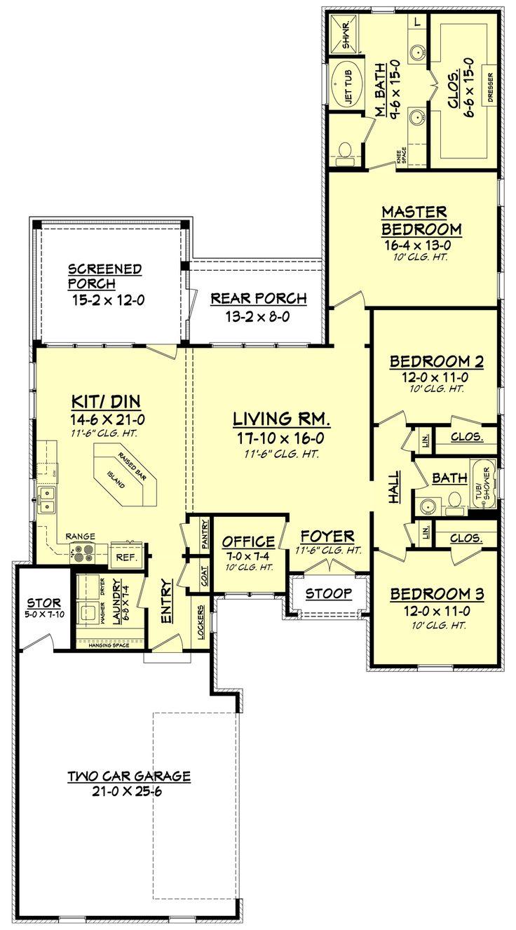 98 best planos casa images on pinterest house floor plans european style house plan 3 beds 2 baths 1792 sq ft plan 430