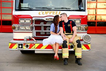 Photo from Brower Engagement collection by Emily J Bragg Photography firefighter engagement photos