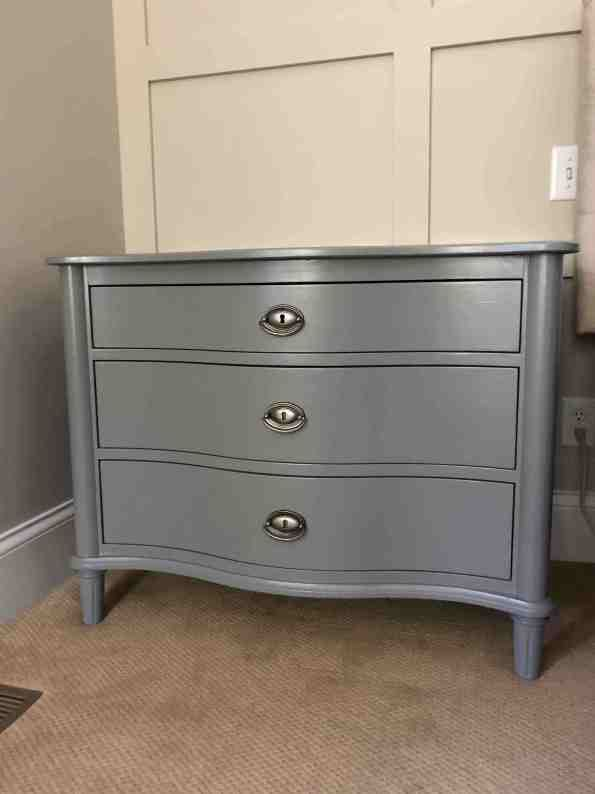 Nightstand Makeover In Magnolia Home Cabinet And Trim Paint Nightstand Makeover Painting Trim Magnolia Homes