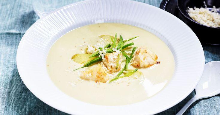 Sparrissoppa med torsk - Recept | Arla