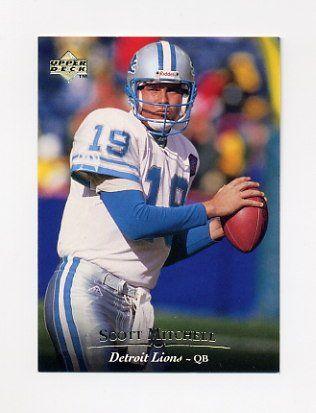 1995+Upper+Deck+Football+#066+Scott+Mitchell+-+Detroit+Lions
