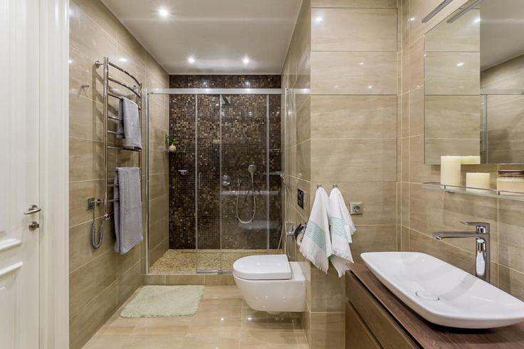 Квартира в стиле фьюжн , реализованный: Ванные комнаты в . Автор – Alexander Krivov