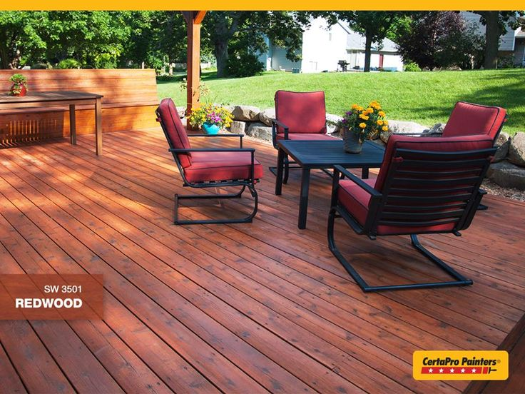 Semi Transparent stains let the wood's natural beauty shine through. This one is Sherwin Williams SW3501 Redwood | See more at: http://www.sherwin-williams.com/homeowners/color/find-and-explore-colors/stain-colors/details/SW3501/#sthash.x2NvyPaP.dpuf #pressuretreated #deck #outdoorliving #stain #sherwinwilliams #lovemydeck #inspiration #spruceup #deckdesign #outdoorrooms #homeimprovements #deckbuilding