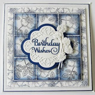 8/1/17.  PartiCraft (Participate In Craft): Faux Tiled Background Card