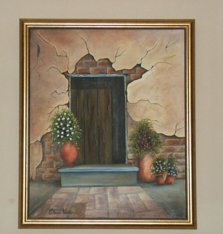 "A Door to...... ""Oil on canvas, framed"""