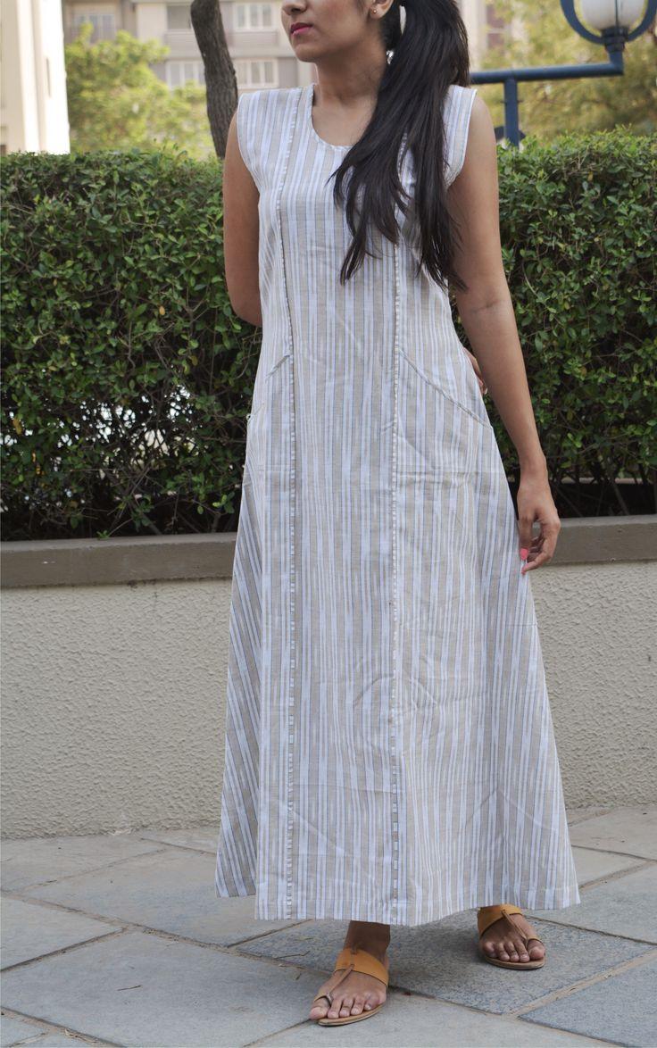 simple elegant cool summer ikkat dress: PAON