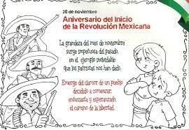 Resultado de imagen para poemas para colorear de la revolucion mexicana para niños