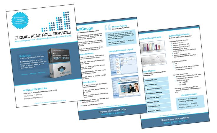 Global Rent Roll Services Brochures Creative Clarity