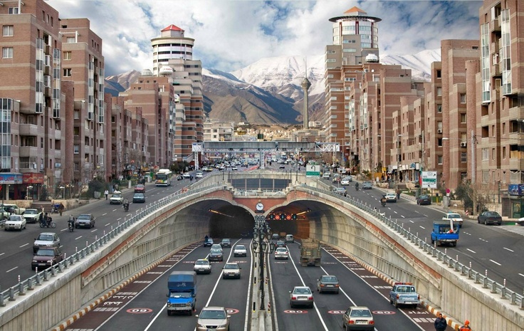 That is some beautiful symmetry in the city of Tehran, Iran. #travelFavorite Places, Tehran Iran, Cities, The View, Beautiful, Tehraniran, Travel Destinations, Tohid Tunnel, Middle East