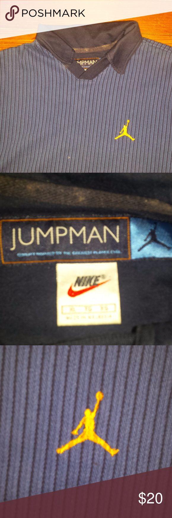 1997 Air Jordan Polo Shirt XL Air Jordan 1997 blue polo shirt. Size XL. Air Jordan Shirts Polos