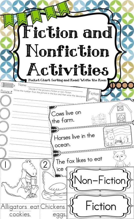 Easy Non-Fiction Literacy Center for Kindergarten