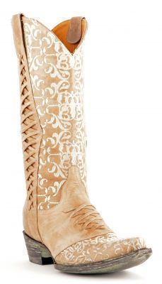 Perfect Wedding Cowboy Boot!! Womens Old Gringo Sweet Revita Boots Bone