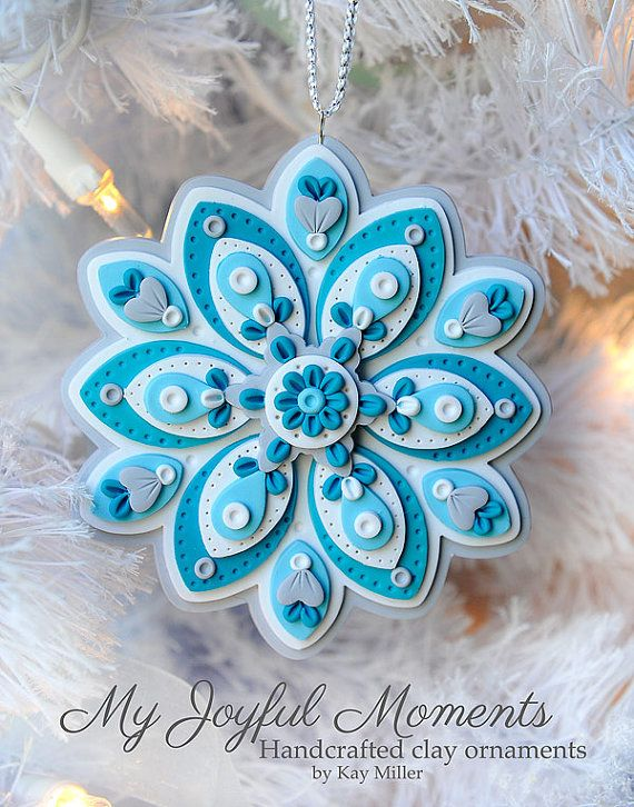 Handcrafted Polymer Clay Ornament                              …