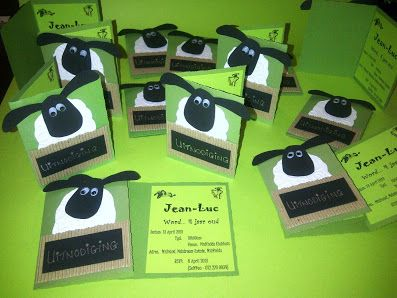 Cards @Sarah Hand - Product - Shaun the Sheep Invitations