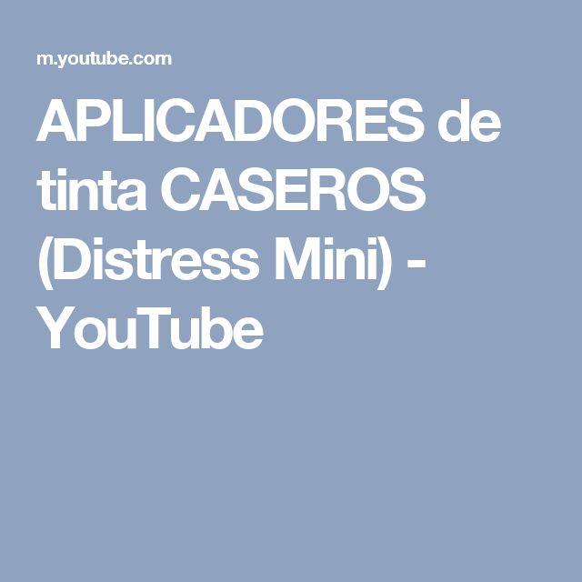 APLICADORES de tinta CASEROS (Distress Mini) - YouTube