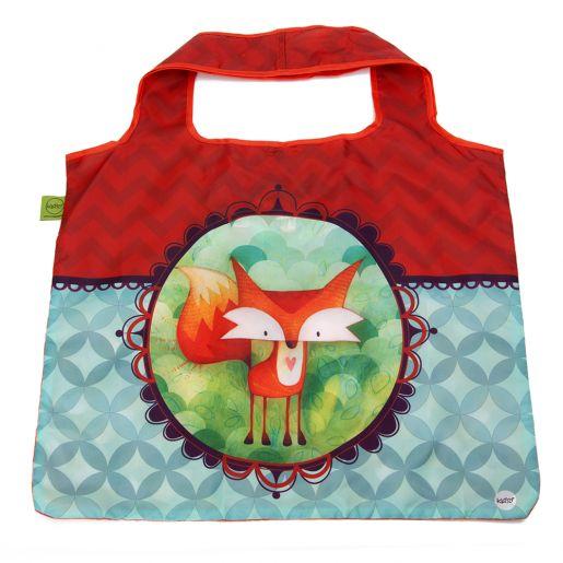 Sac d'Achats Repliable Renard KETTO Foldable Shopping Bag Fox // Polyester. Capacité de 10 kg. // Polyester. Capacity of 10 kg. // #SacRepliable #FoldableBag #Ketto