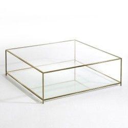 Table basse carrée verre trempé, Sybil AM.PM - Table basse