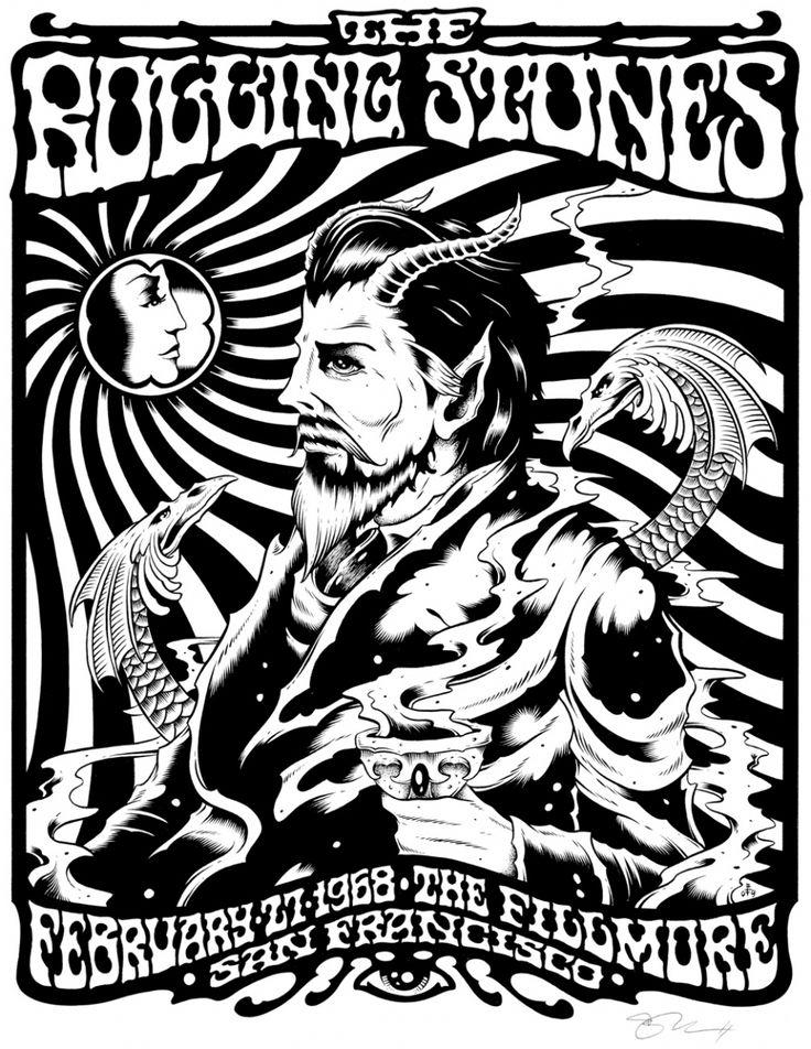 Concert poster art music rolling stones