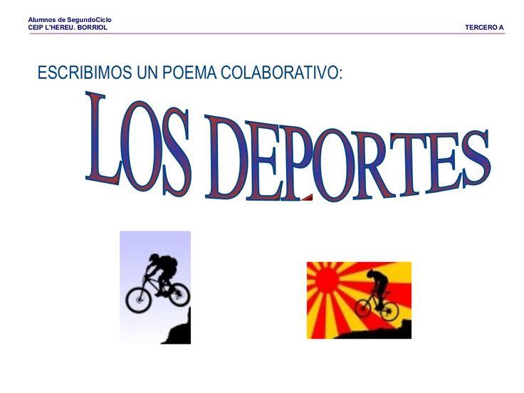 Poema los deportes by Pilar Garcia Mor via slideshare