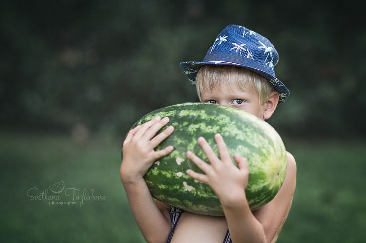 Watermelon. Children's photography. #tuzlukovaphotography