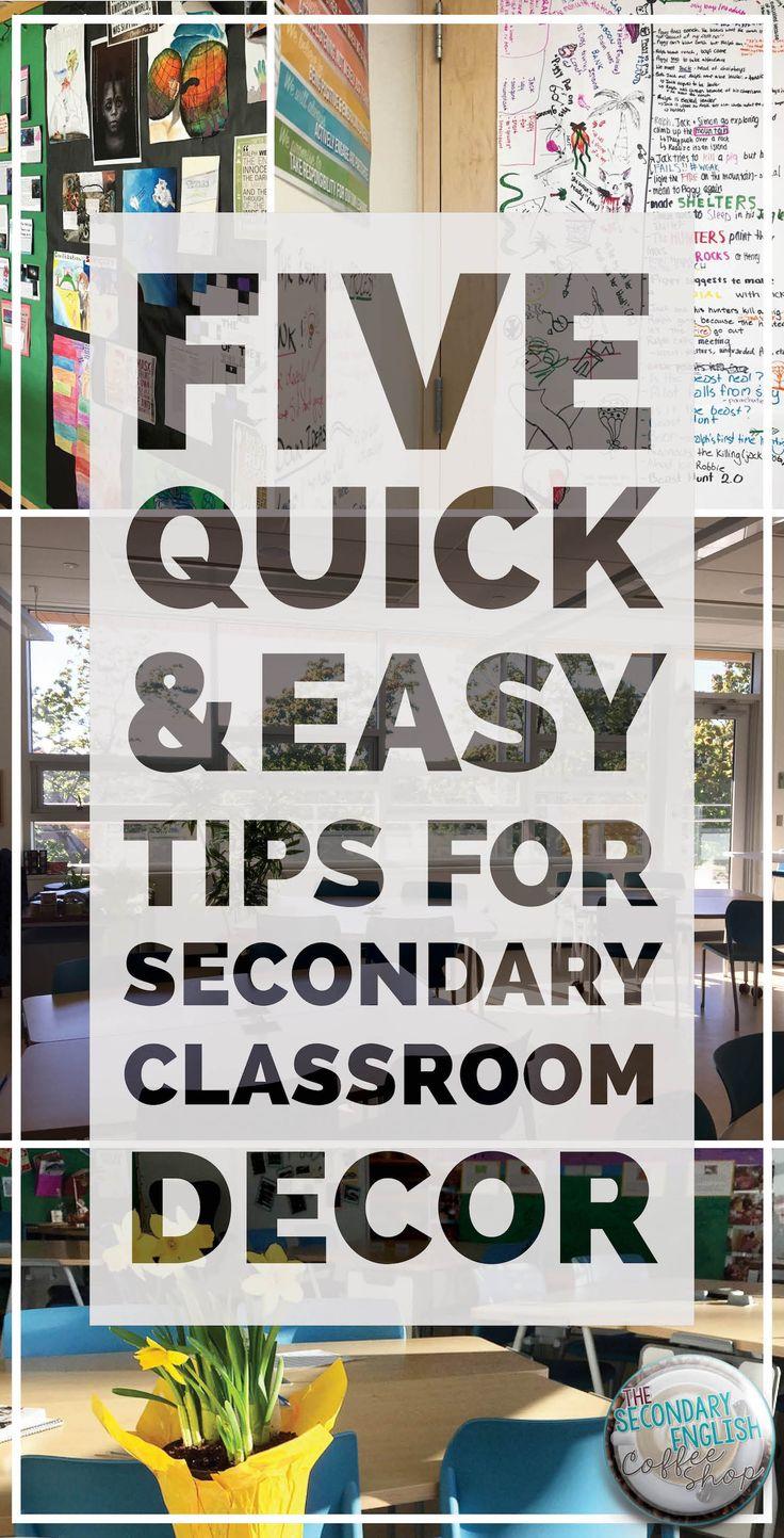 Who says colour and decor is just for the elementary classroom? Get five FREE and easy ways to engage your students and set the scene for inspiration in your classroom.