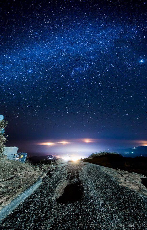 Starry ocean view