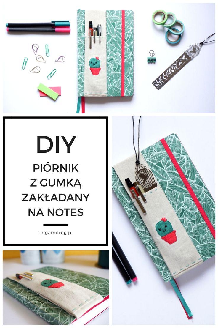 Zrób to sam Piórnik z gumką zakładany na notes, kalendarz, bullet journal // DIY Journal Pen holder with elastic band