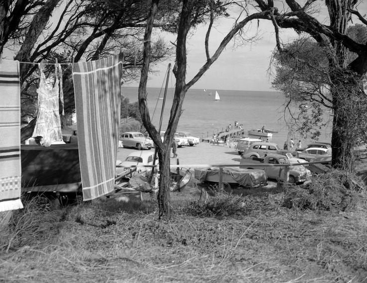 1960 Camping area at Sorrento. VicRoads Centenary 1913-2103. www.vicroads.vic.gov.au/centenary